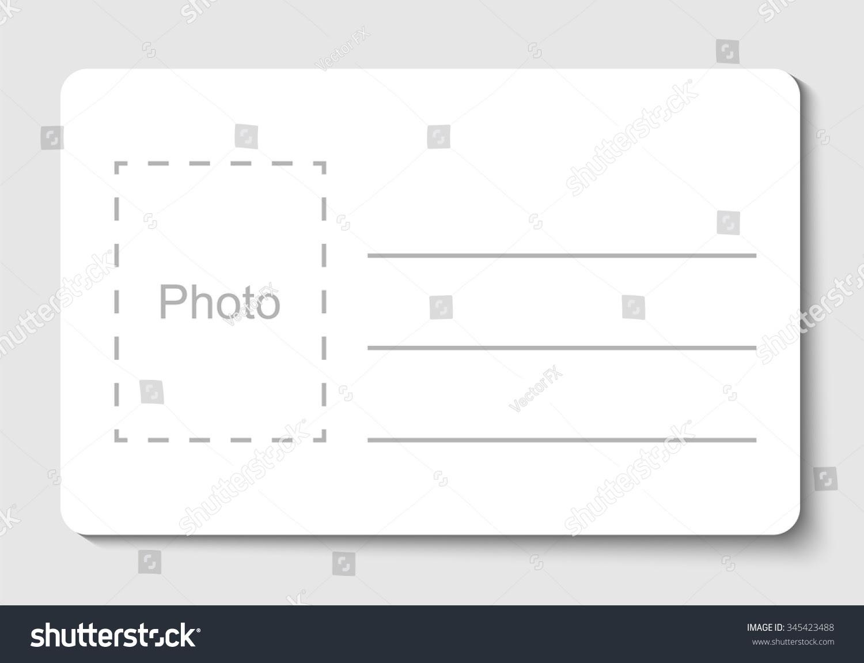 Empty Blank Id Card Vector Illustration Stock Vector 345423488 ...