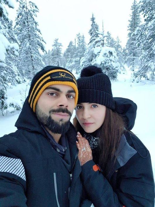 Viraat and Anushka honeymoon picture roaming in internet