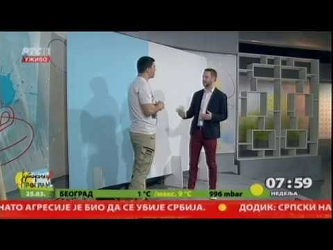 Interior decorating advice on Nacional TV RTS1