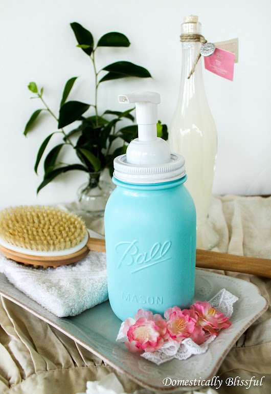 DIY Foaming Hand Soap and Mason Jar Soap Dispenser