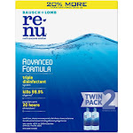 ReNu Bausch Plus Lomb Renu Lens Solution Advanced Triple Disinfect Formula Multi-Purpose, 12 Ounce, Blue