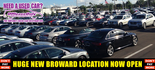OffLeaseOnly North Lauderdale Used Car Dealership NOW OPEN!