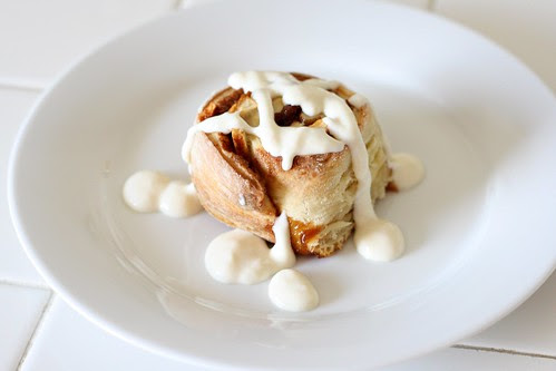 Apple Cinnamon Rolls with Cream Cheese Glaze