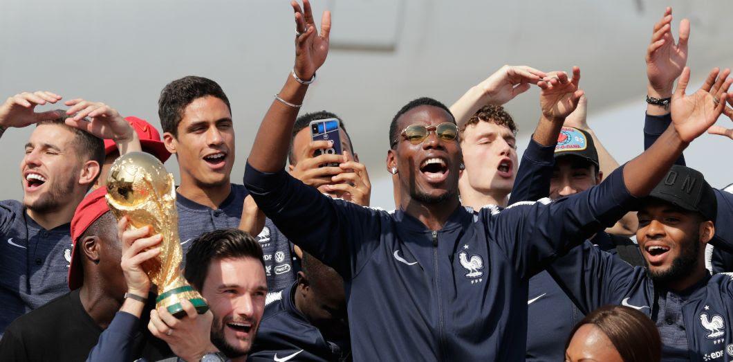 Arrivée de l'équipe de France à l'aéroport de Roissy, le 16 juillet 2018. | Thomas Samson / AFP