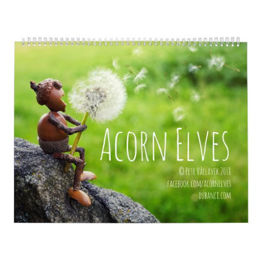 Calendar with Acorn Elves funny photos