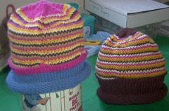 Two 76 Stitch Hats