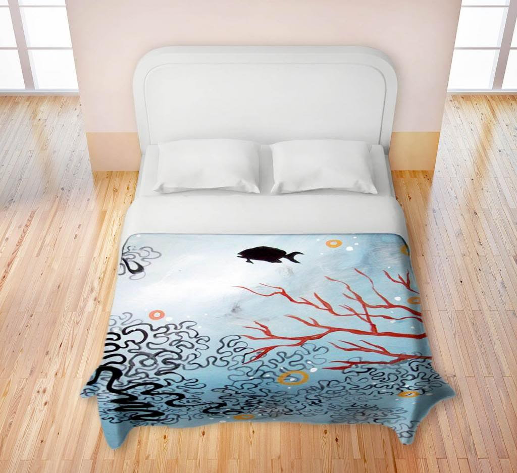Ease on the Reef Duvet Cover