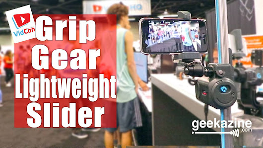 GripGear Motorized Slider with 360 Attachment for Small Cameras