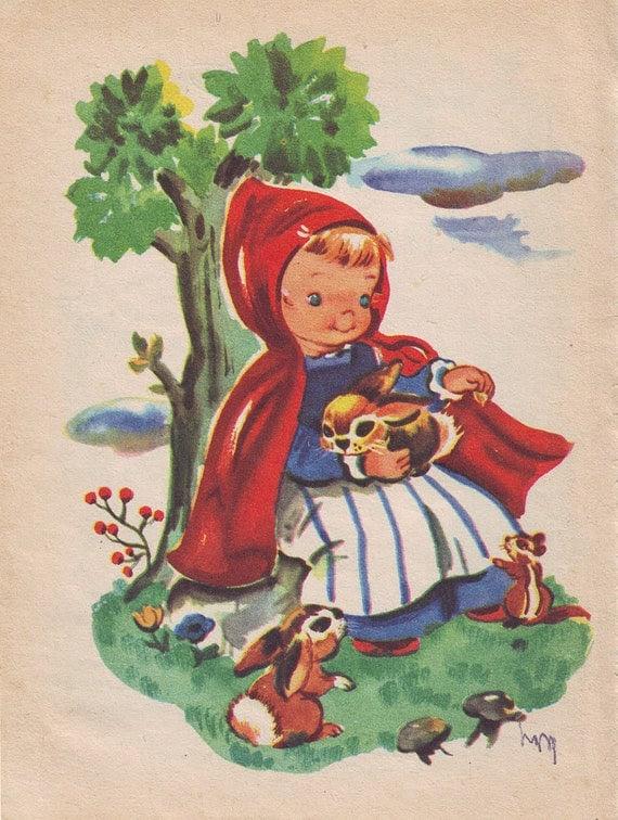 Vintage Illustration - Little Red Riding Hood