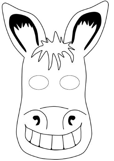 Kağıttan Eşşek Maskesi