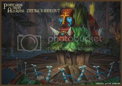 Postcards of Azeroth: Zim'ba's Hideout, by Rioriel Ail'thera