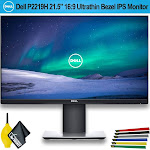 """Dell 21.5"""" 16:9 Ultrathin Bezel IPS Monitor - 2 Pack - With Wire Straps, Dust Blower, and MicroFiber Cloth (2 - Pack)"""