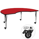 48x72 Kdny Red Activity Table - ARBXU-A4872-KIDNY-RED-H-P-CAS-GG