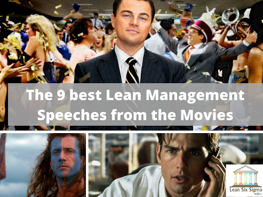 Watch the 9 best Lean Management Speeches from Movies: Braveheart, Whiplash, Wall Street Wolf, Invictus... - Lean Six Sigma Belgium