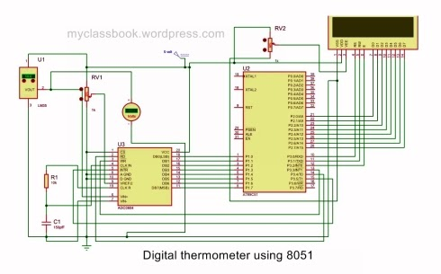 Digital Thermometer using 8051 Microcontroller: Electronics Mini Project