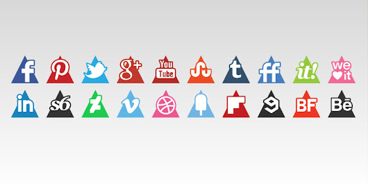 Triangles Icons Set April 12, 2015