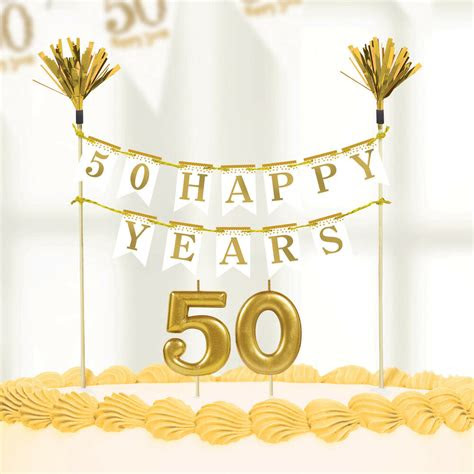 sparkling golden wedding anniversary party cake