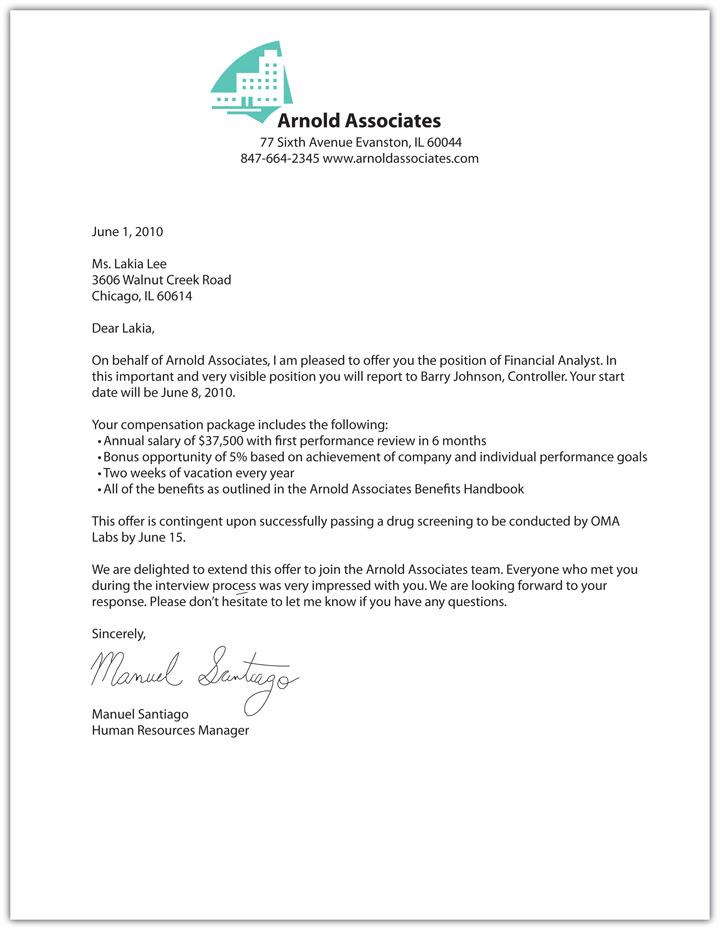 Job Offer Letter Template 7