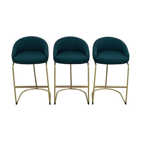 vintage teal upholstered bar stools chairs