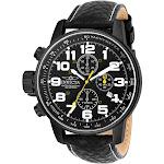 Invicta Men's 3332 Black Leather Japanese Chronograph Sport Watch