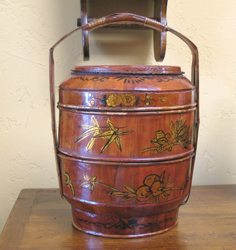 A three tiered stacking wedding basket from early 20th century China