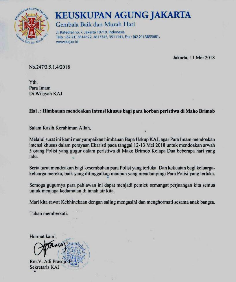 Imbauan KAJ Doakan Polisi Gugur Di Mako Brimob SESAWINET