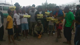 Free West Papua Campaign Papua New Guinea holds a demonstration for the journalists in Port Moresby