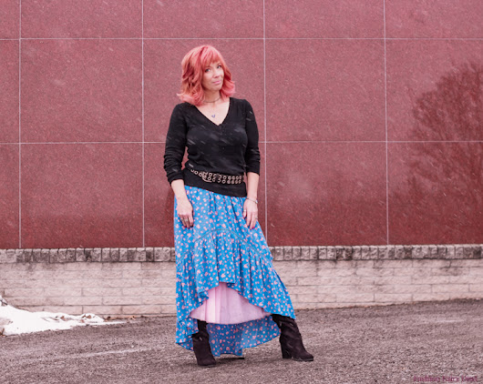High Low Skirt & OTK Boots: The World Of No - Fashion Fairy Dust