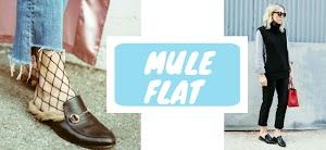 Tendência das flat mules em 5 looks