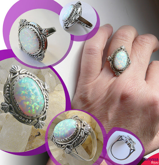 Aristocratic Mind Blowingly Beautiful Art Deco Style Imperial Opal 925 Ring