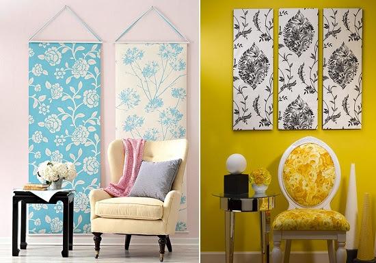 استخدام ورق الحائط كعمل فنى على الجدران