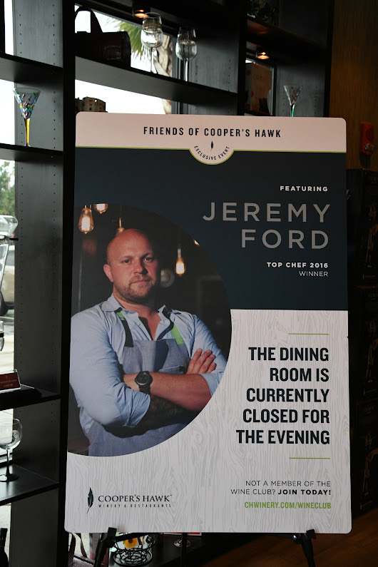 Cooper's Hawk Celebrity Chef Jeremy Ford.