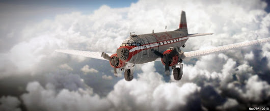 "Minecraft is best! on Twitter: ""✈️ #Minecraft plane by Mouldy_Burrito! (It's a render) """