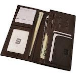 Walleteras Long Wallet in Distressed Leather - Dark Brown