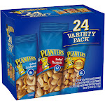 Planters Variety Pack Peanuts & Cashews - 24 count