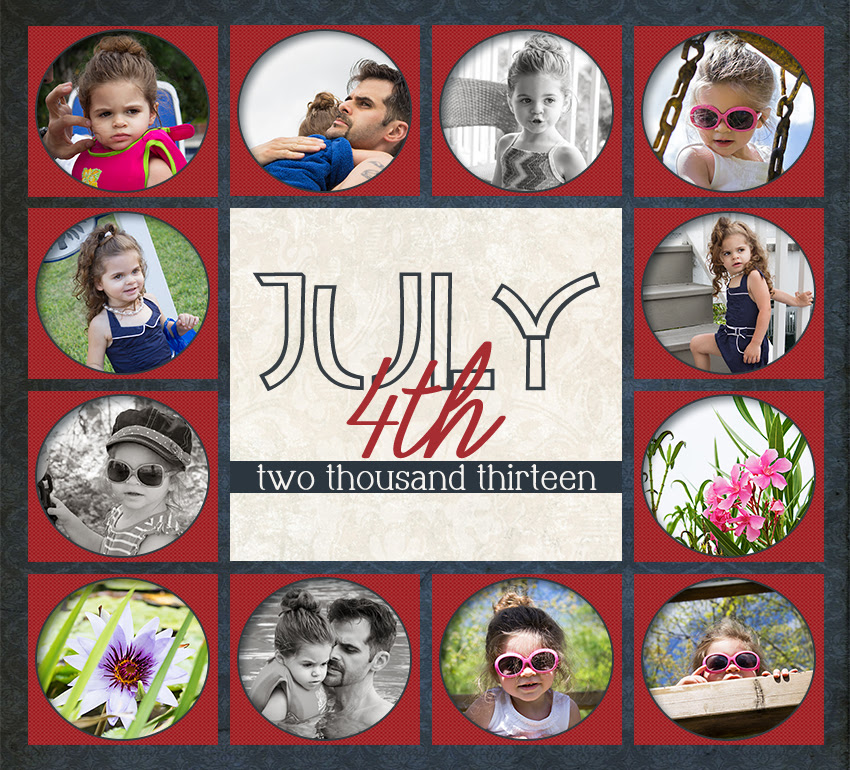 Free 4th of July Storyboard Collage Template