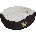 """Evelots Soft Pet Bed for Cats & Dogs w/ Minor Factory Defects,17""""D x 5""""H,Brown"""