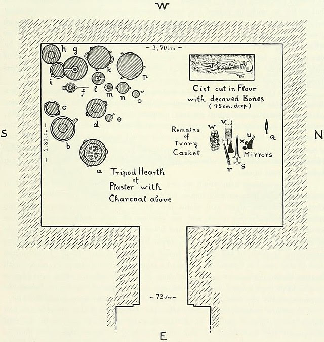 Plan of tomb 14 at Zapher Papoura.jpg