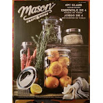 Mason Craft Jars and More. 4 Glass Canisters with Lids