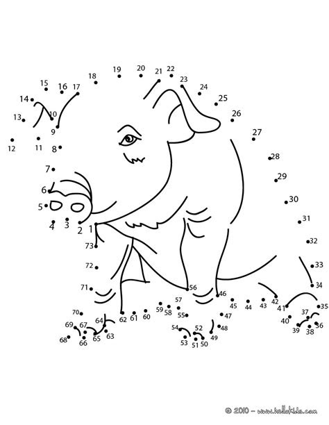 pig dot  dot game coloring pages hellokidscom