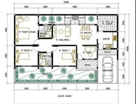 Sketsa Rumah 9x10