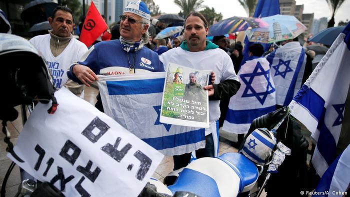 Resultado de imagem para prisao em israel por protestos por azaria