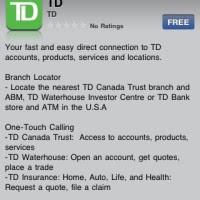 TD Canada Trust iPhone App Released! | iPhone in Canada Blog