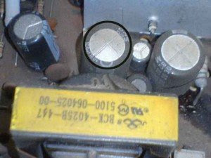 capasitor-100uf160-volt-filter-power-supply-televisi-Akira-CT21PF9-300x225
