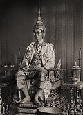 Rama IX on his Throne.jpg