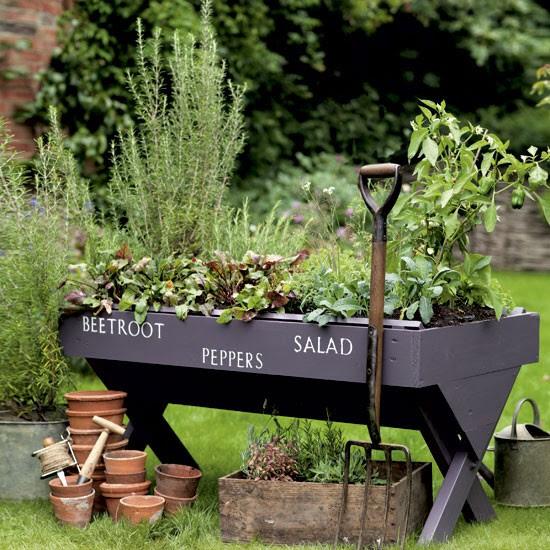 Garden planter with stencil lettering | Garden inspiration | planters | image | Housetohome