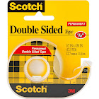 Scotch Permanent Double-Sided Tape, Clear
