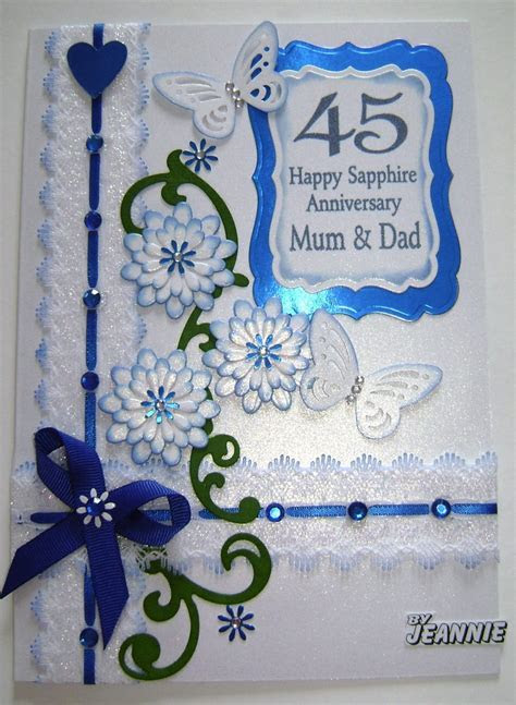 45 years Sapphire Anniversary   CUTE CARDS   Pinterest