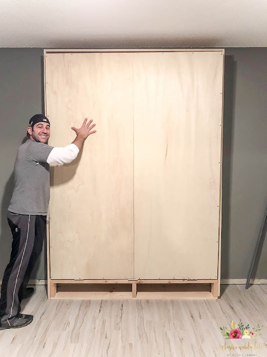 How to Build a Queen Size Murphy Bed (Sponsored by Wayfair) - REFASHIONABLY LATE