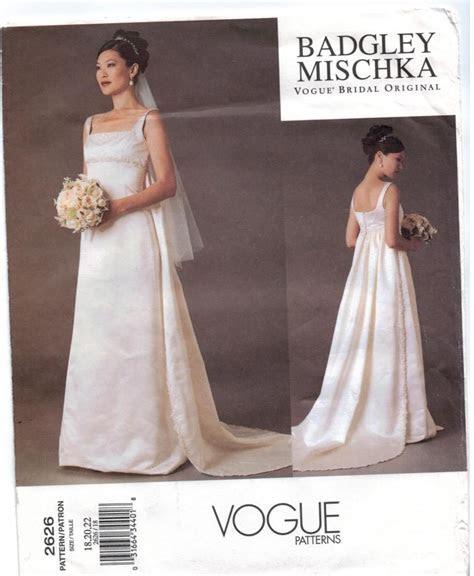 Vogue Pattern 2626 Badgley Mischka Designer Wedding Gowns